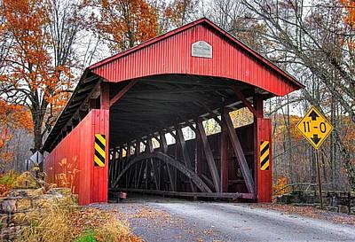 Of Augusta National Photograph - Pa Country Roads - Keefers Station Covered Bridge Over Shamokin Creek No. 9 - Northumberland County by Michael Mazaika