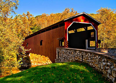 Old Country Roads Photograph - Pa Covered Bridge by Nick Zelinsky