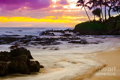 Paako Beach Sunset Jewel Print by Sharon Mau