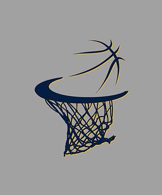 Pacers Basketball Hoop Print by Joe Hamilton