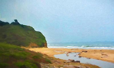 Pacific Beach Print by Impressionist Art