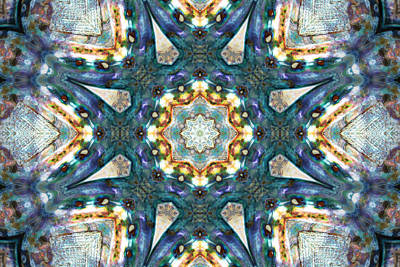 Quilts Photograph - Pacific Blue by Cricket Hackmann