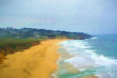 Pacific Coast Print by Impressionist Art