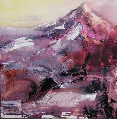 Pacific Crest Trail Painting - Mt. Jefferson by Sky Schulz