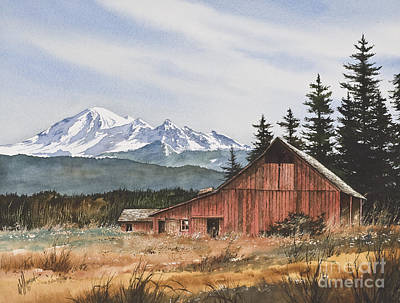 Barn Landscape Painting - Pacific Northwest Landscape by James Williamson