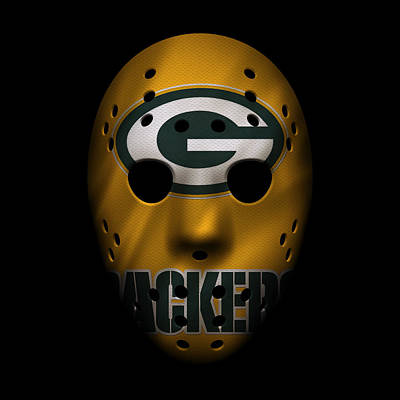 Packers War Mask 3 Print by Joe Hamilton