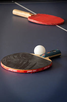 Ping Pong Photograph - Paddles And Ball by Frank Mari