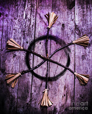 Pagan Or Witchcraft Symbol For A Gathering Print by Jorgo Photography - Wall Art Gallery