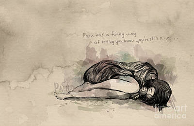 Bipolar Digital Art - Pain by Emily Wickerham