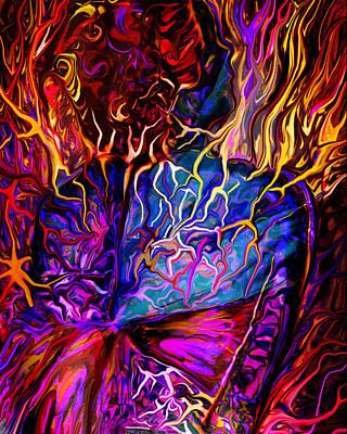 Chemical Digital Art - Pain Slow Death Five by Karen Musick