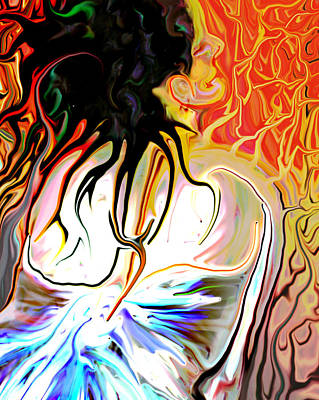 Hurt Digital Art - Pain Slow Death One by Karen Musick