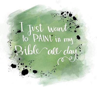 Paint All Day Print by Nancy Ingersoll
