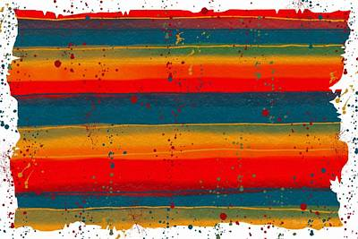 Las Cruces Painting - Paint It Serape by Barbara Chichester