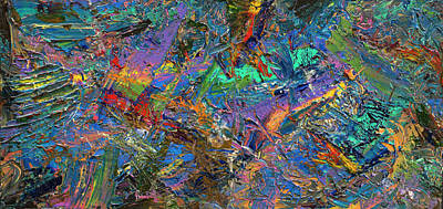 Dynamic Painting - Paint Number 28 by James W Johnson
