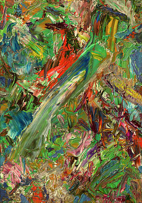 Dynamic Painting - Paint Number 32 by James W Johnson