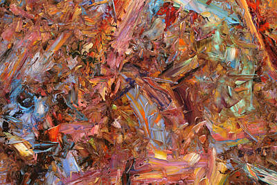 Non-objective Painting - Paint Number 43b by James W Johnson