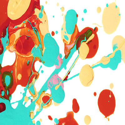 Paint Party 3 Square Print by Amy Vangsgard