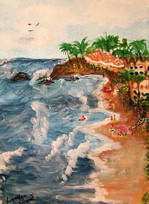 Laguna Beach Mixed Media - Paint The Day by Jennifer Irene Stuart