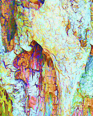 Beach Landscape Mixed Media - Painted Bark I by Chris Andruskiewicz