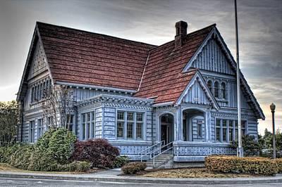 Granger Photograph - Painted Blue House by Brad Granger