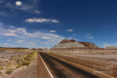 Multihued Photograph - Painted Desert Road by Christiane Schulze Art And Photography