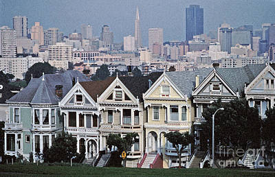 Photograph - Painted Ladies Sf Tom Wurl by Tom Wurl