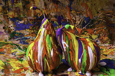 Mess Photograph - Painted Pears by Garry Gay