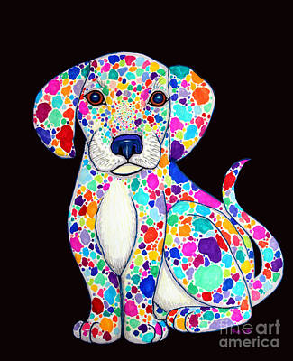 Painted Puppy 2 Print by Nick Gustafson