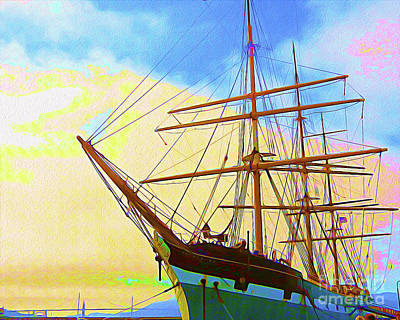 Golden Gate Mixed Media - Painted San Francisco Ship I by Chris Andruskiewicz