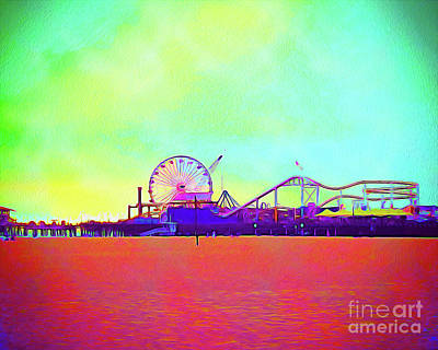 Santa Monica Mixed Media - Painted Santa Monica II by Chris Andruskiewicz