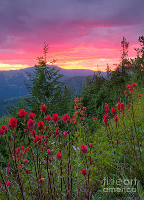 Painted Sky Print by Idaho Scenic Images Linda Lantzy