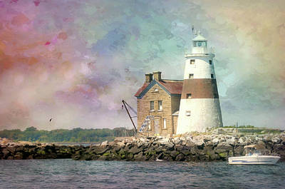 United States Coast Guard Photograph - Painterly Lighthouse by Diana Angstadt