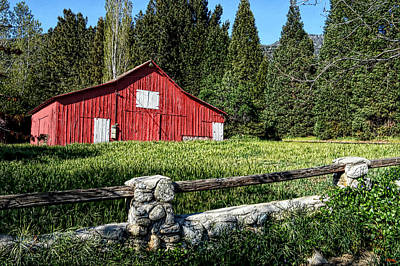 Old Barns Digital Art - Painting A Bit Of Country by Glenn McCarthy