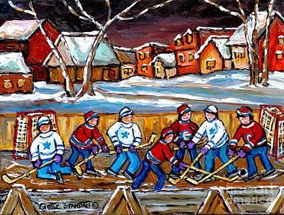 Winter Sports Painting - Painting Hockey Art Hockey Sticks Hockey Goalies Best Original Hockey Art  by Carole Spandau