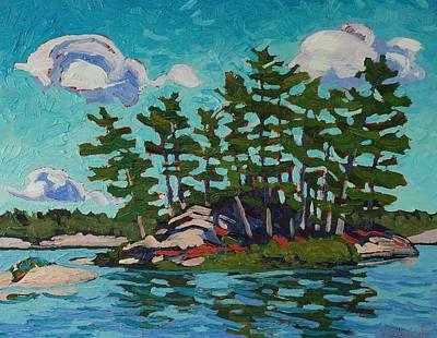Painting Island Original by Phil Chadwick