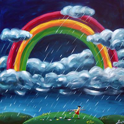 Ronald Mcdonald Painting - Painting Ranibows by Ira Mitchell-Kirk