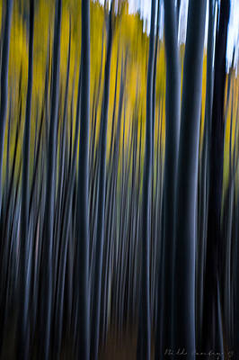 Locket Photograph - Painting The Aspens by Bill Cantey
