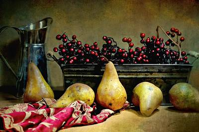 Pairs Of Pears Print by Diana Angstadt