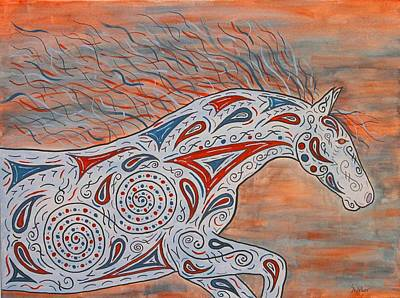 Paisley Spirit Print by Susie WEBER