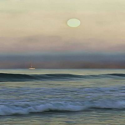 Pale Sunset Print by Tracey Harrington-Simpson