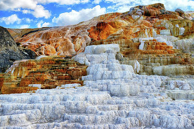Yellowstone Photograph - Palette Steps by Greg Norrell
