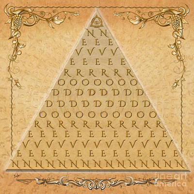 Eyes Mixed Media - Palindrome Pyramid V1-decorative by Bedros Awak