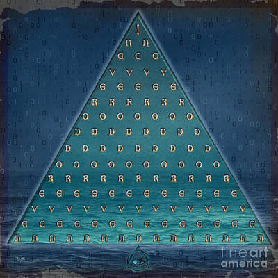 Palindrome Pyramid V1-enigmatic Print by Bedros Awak
