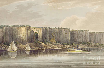 Palisades Print by William Guy Wall