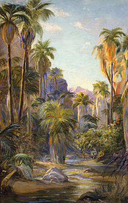 Palm Canyon Print by Lewis A Ramsey