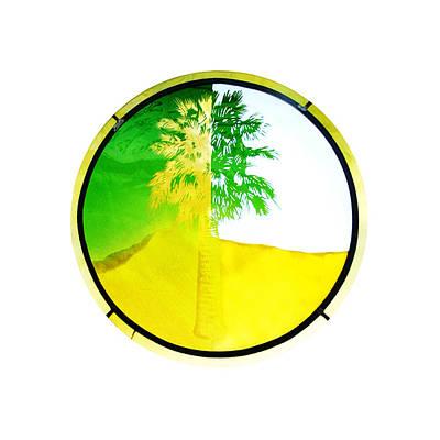 Glass Art Glass Art - Palm Medallion by Richard Spaulding
