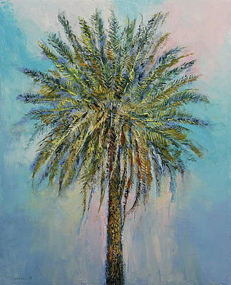 Canary Painting - Palm by Michael Creese
