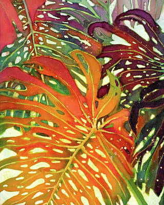 Palm Patterns 2 Print by Deborah Younglao