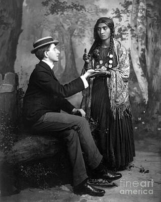 Stereotype Photograph - Palm-reading, C1910 by Granger