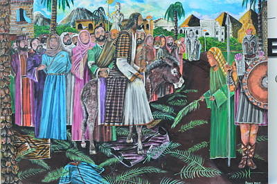 Palm Sunday Painting - Palm Sunday. by Ronald Perry